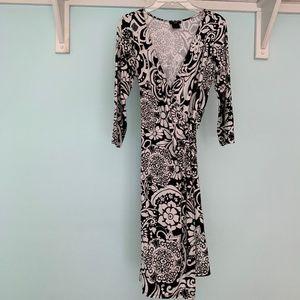 Ann Taylor T-Shirt Wrap Dress